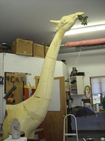 A work in progress. Shawn Bakken's Giraffe