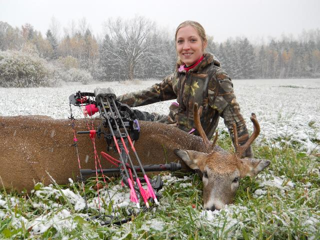 Kelsey Gese's 2013 Archery Buck - First Buck