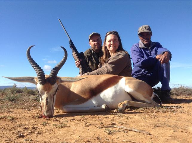 Dixie Bakken  with springbok