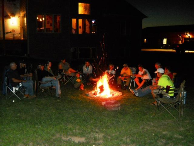 Bonfire gathering