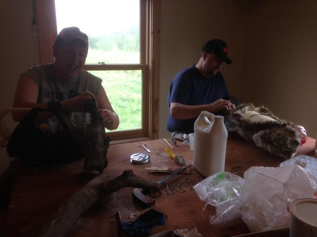 Mark and Brad love sewing