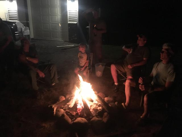 sitting around fire telling stories